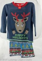 Christmas Pajamas Boy Or Girl Reindeer Knit Look Top And Bottom 2t 3 T 4 T