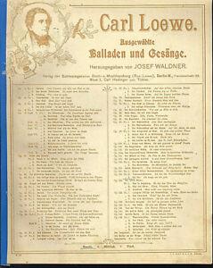 034-Die-Uhr-034-vonCarl-Loewe-uebergrosse-alte-Noten-fuer-hohe-Stimme