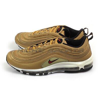 Nike Air Max 97 OG QS Gold Bullet Running Metallic GoldVarsity Red 884421 700   eBay