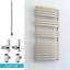 Stylish Flat Panel Radiator Warmer AURA Curve DUAL FUEL Heated Towel Rail