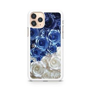 Bello-Blu-Wonderful-Bianco-Elegante-Rose-Modello-Fiori-Custodia-Cover-Telefono