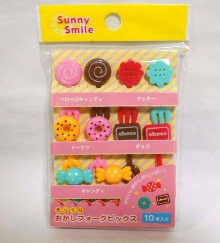 Japanese Lunch Box bento repas fourchette pics Candy 10pcs Kawaii!!!