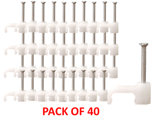 Pack of 40 W4 Caravan Motorhome boat 13-7501 parallel twin flex cable clips clip