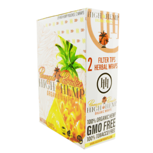 High-Hemp-Organic-Wrap-Pineapple-Paradise-Full-Box-25-Pouches-2-Wraps-per-Pouch