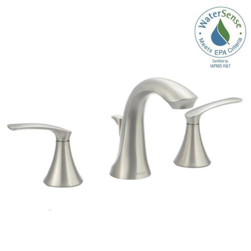 Widespread 2-Handle High-Arc Bathroom Faucet MOEN Darcy 8 in