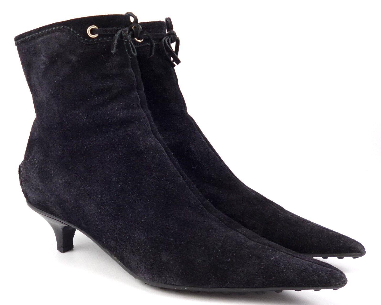 Car Car Car zapatos Mujer Gamuza Cremallera Botines Zapatos Talla 37.5, EE. UU. 7.5 Negro  Ahorre hasta un 70% de descuento.