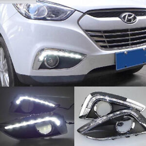 led daytime running lights drl fog lamp cover fit for hyundai ix35 2011 2014 ebay. Black Bedroom Furniture Sets. Home Design Ideas