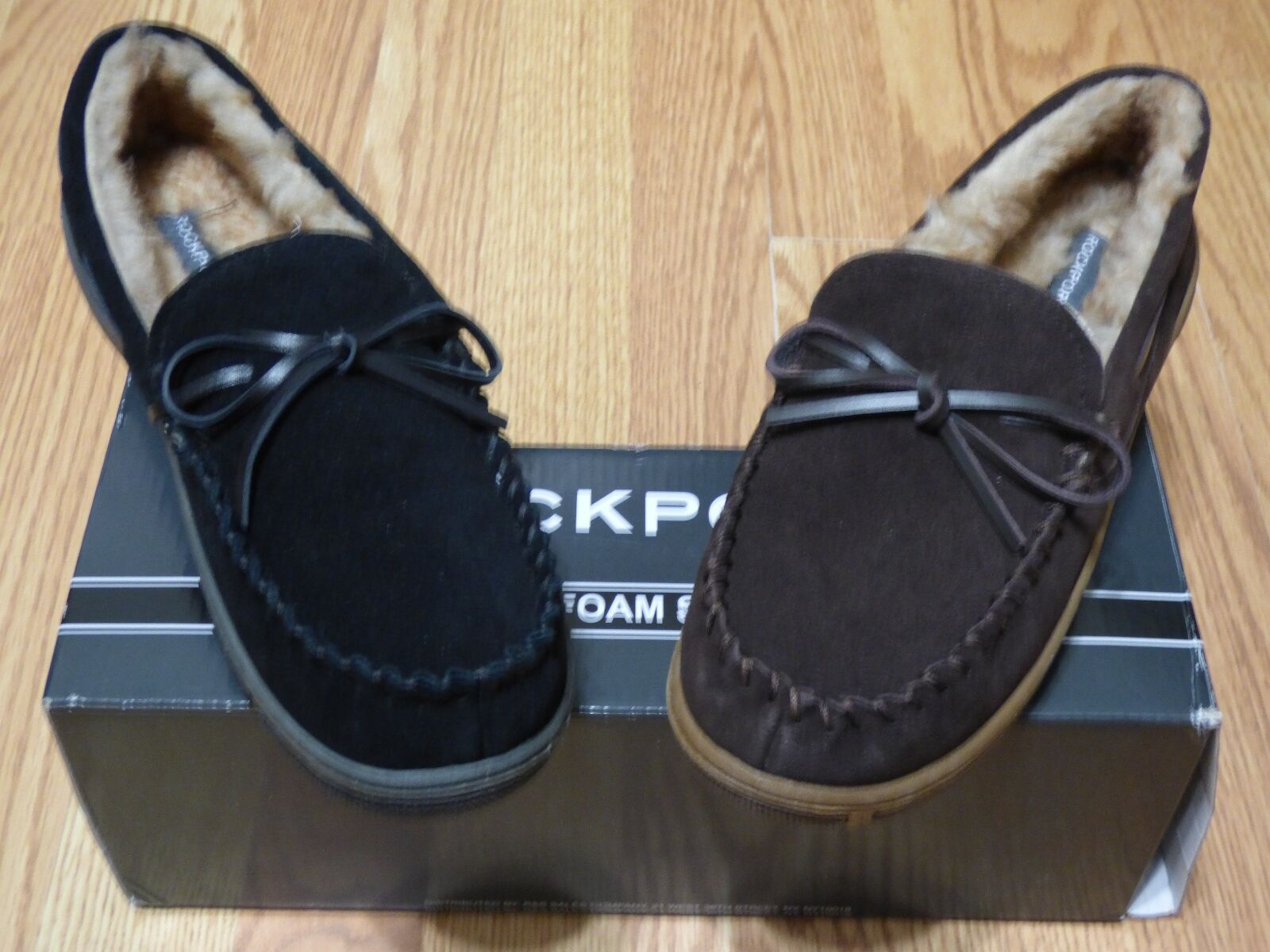 Rockport Men Moccasin Indoor+Outdoor SLIP RESISTANT Slipper, R841 & 71RQ670, NIB