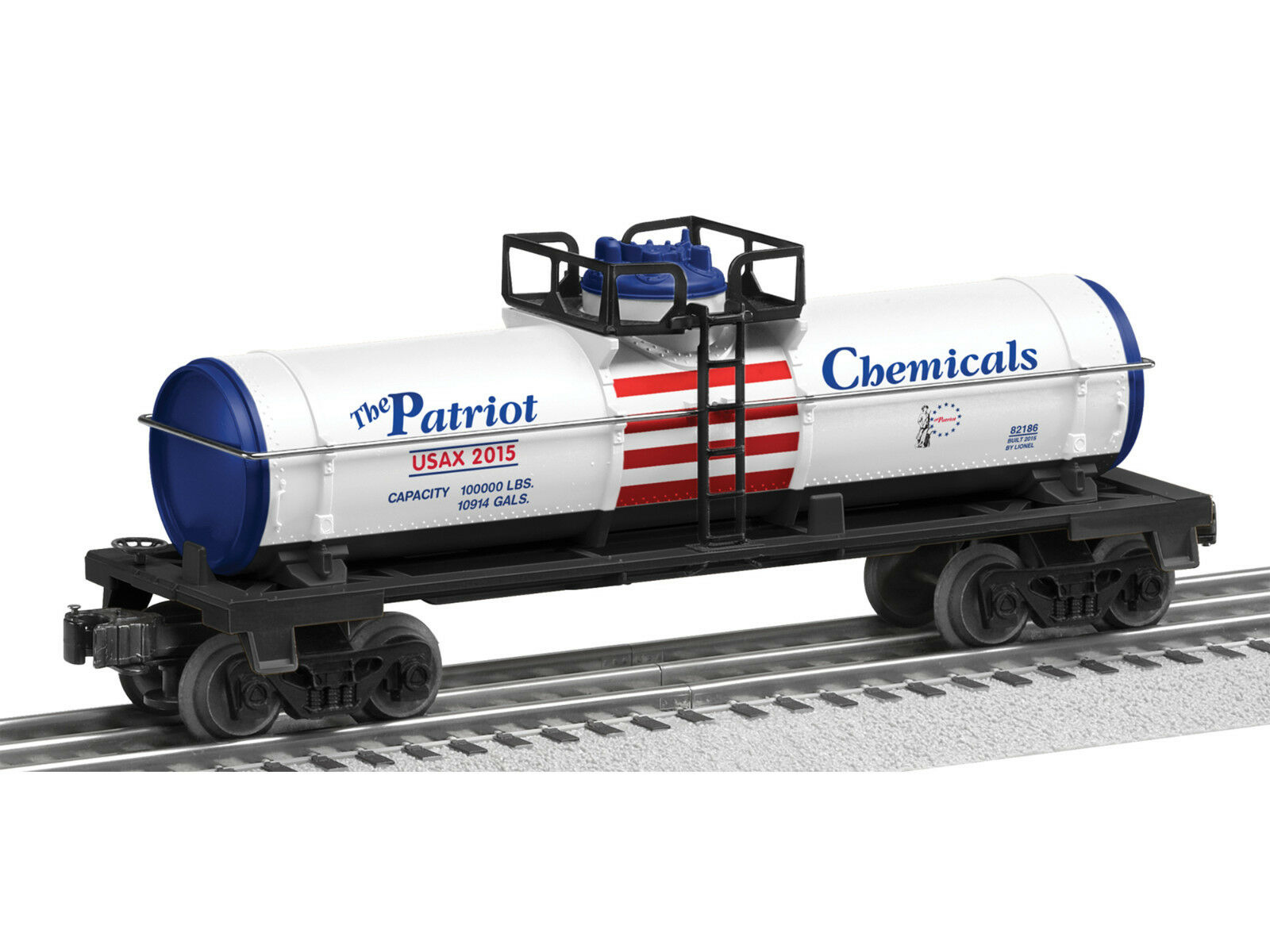 Lionel The Partriot single dome tank car