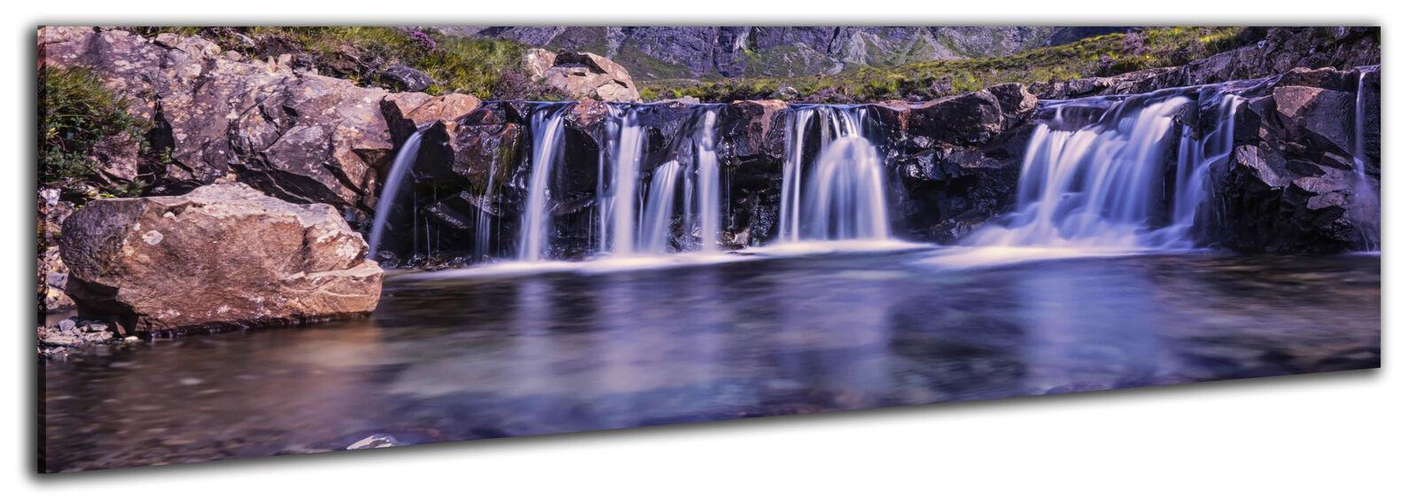 150x50cm panorama toile-La fresque Keilrahmenbild xxl cascade wasserfallla