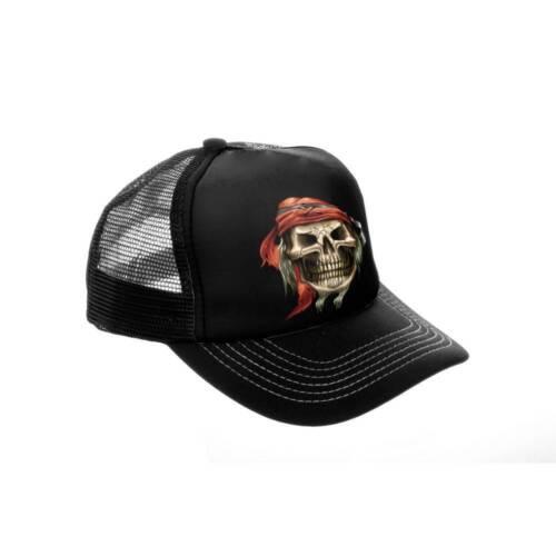 talla única Trucker Cap negra muertos cabeza 2 100/% poliéster nuevo//unbenutz