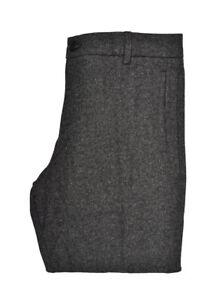 Elvine da uomo HERMANSSON CLASSIC SOFT Pantaloni Regolare Grigio Scuro Taglia 36W