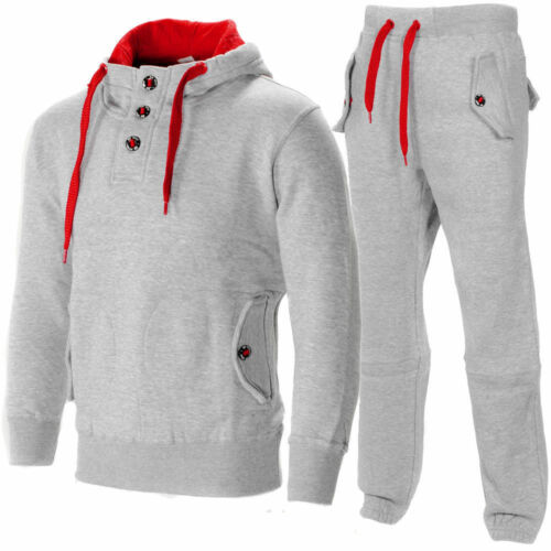 New Mens Plain Printed jogging suit Tracksuit Hooded Bottoms Top Fleece S M L XL