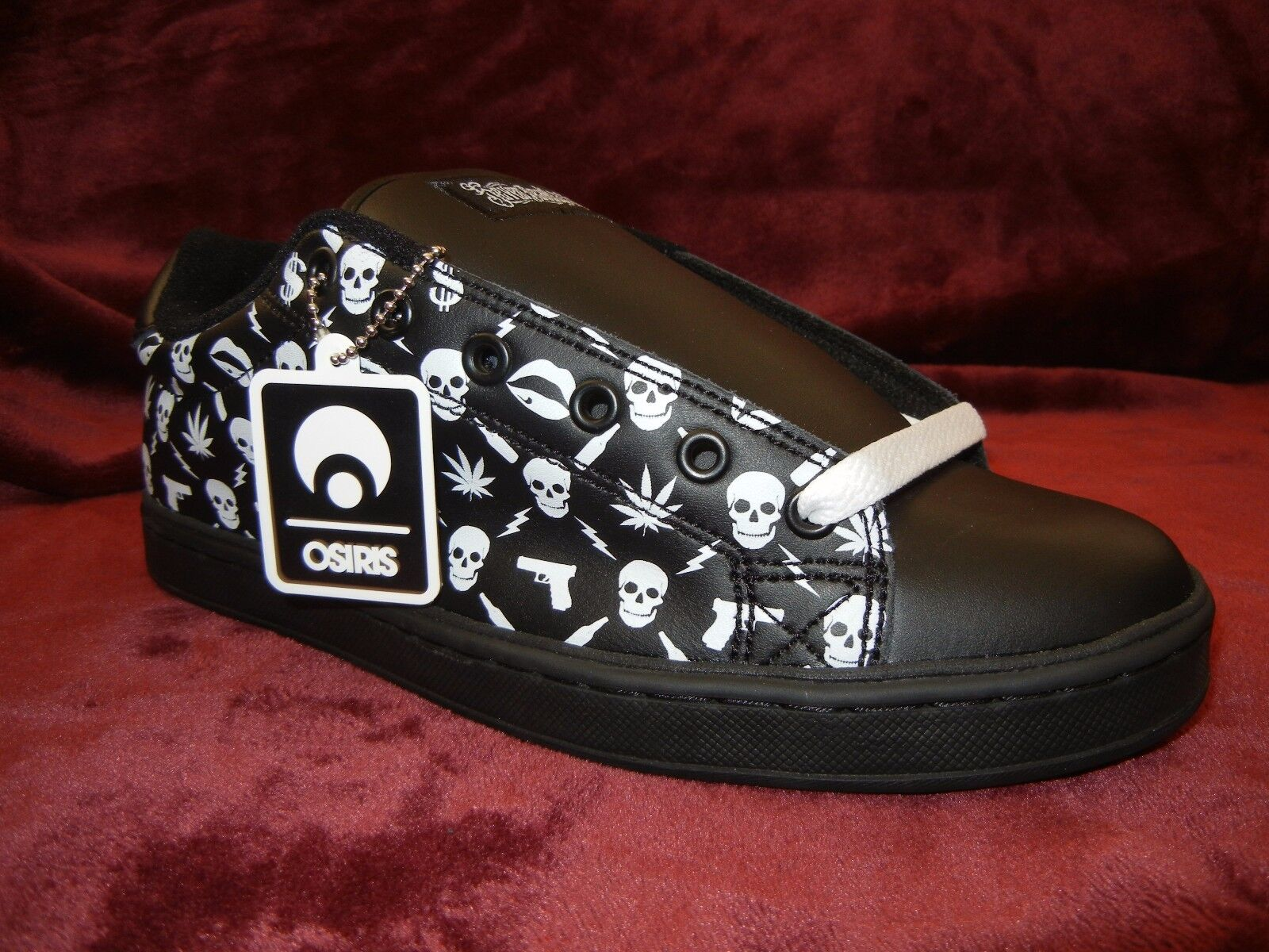 OSIRIS Troma  SEVEN DEADLY SINS  Dimensione 11 nero scarpe da ginnastica DS Deadstock scarpe RARE
