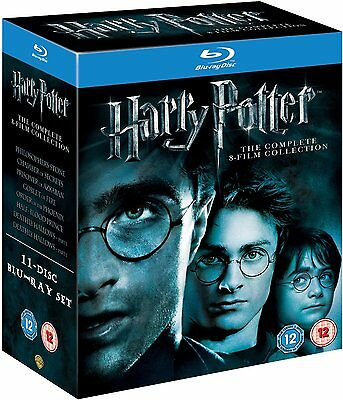 HARRY POTTER THE COMPLETE 8 FILM COLLECTION NEW SEALED REGION FREE BLURAY BOXSET