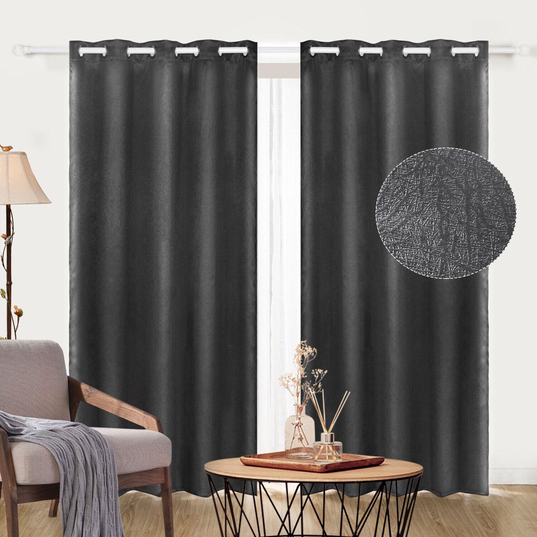 Blackout Room Panels Darkening Curtains Window Panel Drapes Burgundy Color For Sale Online Ebay