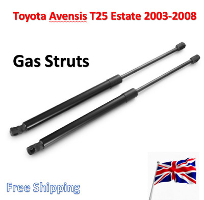 2003-08 REAR TAILGATE BOOT GAS SUPPORT STRUTS 2X FOR TOYOTA AVENSIS T25 ESTATE