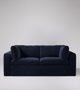 Swoon Seattle Easy Velvet Two Seater Sofa in Ink - RRP £1549