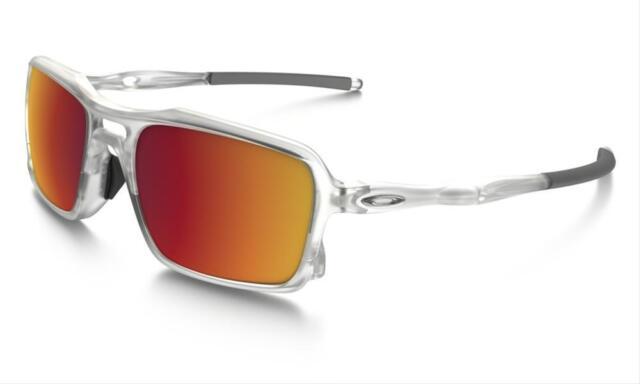 New Oakley Triggerman Matte Clear Sunglasses w/ Torch Iridium Lens OO9266-07