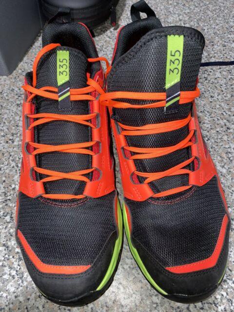 adidas Men's Terrex Agravic TR Running Shoe,  Black, Orange, Yellow. Size 12