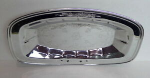 Bread-Serving-Tray-Oblong-Dish-Silver-Metal-12-1-2-034-long-Holiday-Table-Service