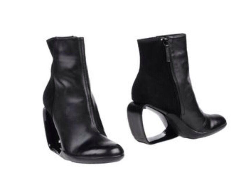 United Nude botas al tobillo Botines Zapatos paso Mobius Mobius Mobius Chelsea Gamuza Cuero Negro 6  Descuento del 70% barato