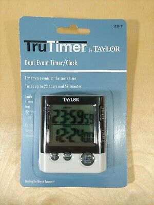 Tru Timer New Taylor Precision Products Two Event Digital Kitchen Timer 5828 21 77784582824 Ebay
