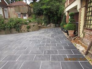 Image Is Loading Black Slate Paving Patio Slabs Drive Garden 5m2