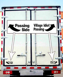Details About Funny Idiot Passing Semi Truck Vinyl Decal Sticker Suicide Us Dot Usdot Trailer