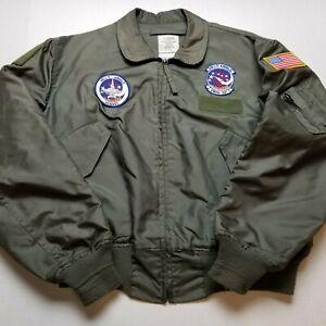 Vtg Hell's Angels Hornet Flyer's Jacket Mens XL VMFA-321 USA 90s Military Flight