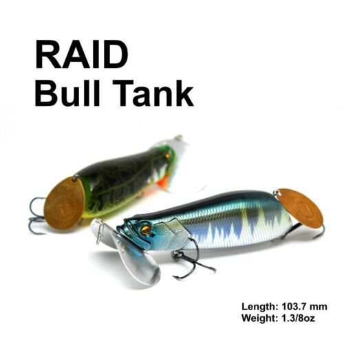RAID JAPAN BULL TANK ~ TOP WATER LURE ~ very RARE !!!..