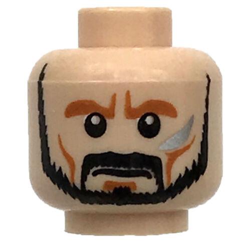LEGO NEW LIGHT FLESH MINIFIGURE HEAD BEARD WITH CHINSTRAP PIECE ANGRY