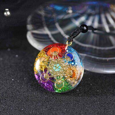 CHAKELA Natural Crystal Gem Agate 7 Chakra Energy Healing Stone Pendant Reiki Yoga Meditation Hand Woven Necklace Accessories