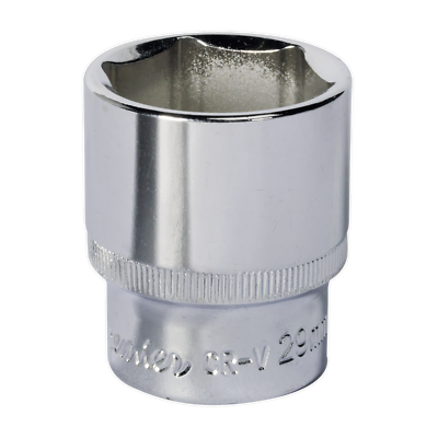 "Sp1229 Sealey Walldrive® Socket 29mm 1/2""sq Drive Fully Polished"
