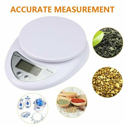 5KG Digital Kitchen Scales LCD Electronic Cooking Food Weighing Scale With Bowl