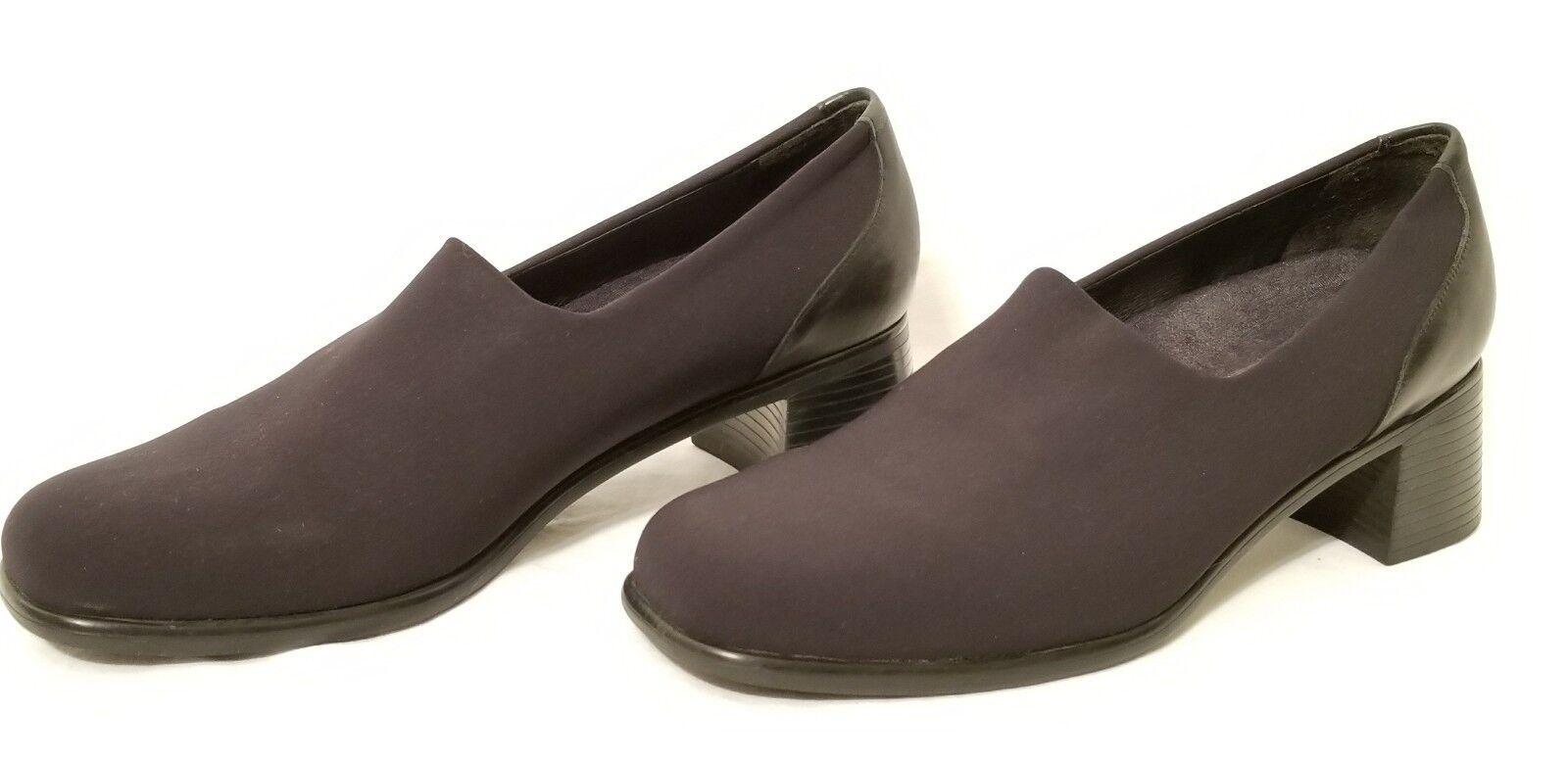 Munro American Women's Black Block Heel Career Comfort 7.5 Fabric Top Shoes Size 7.5 Comfort 8fa5d5