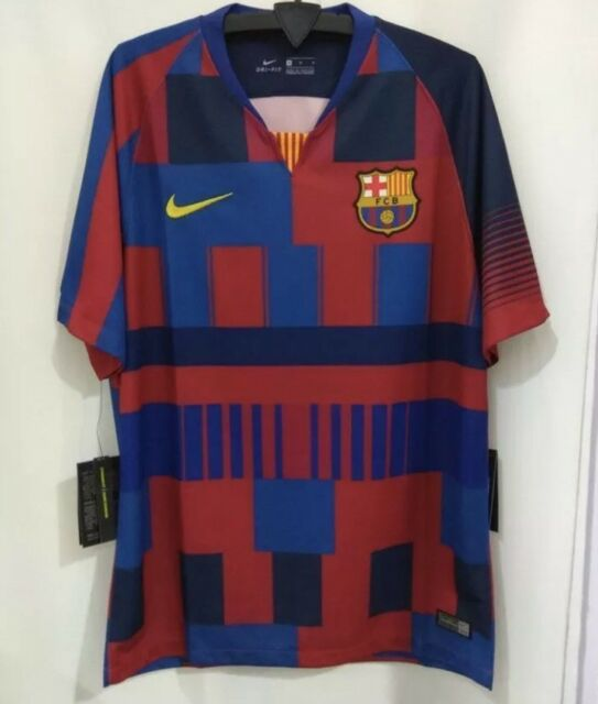 online retailer 5e294 7a05b Details about Nike FC Barcelona Limited Ed 20th Anniversary 'Mash Up' Kit  Shirt Jersey Mens L