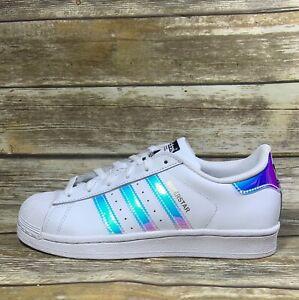 New Adidas Originas Superstar J Hologram Iridescent Colorful Aq6278 Shoes Sz 5 5 Ebay