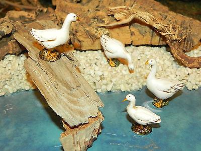 "Landi Geese Figurines for 3.5"" Nativity Scene Dollhouse Animal Pesebre Ganzos"