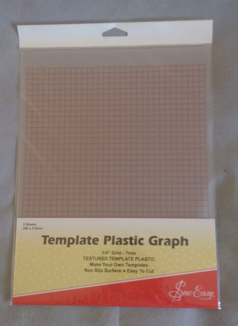 pk of 2 Sheets Printed with 7... Sew Easy Template Plastic Graph 280 x 215mm