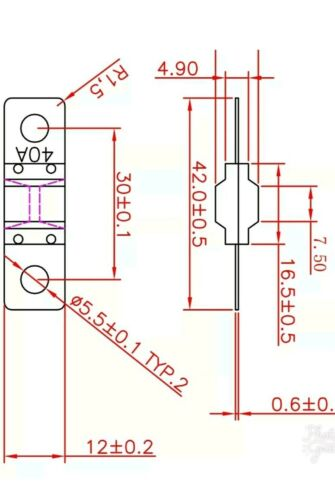 3 x 40 amp ANS FUSES   FAST AUS POST     MIDI FUSE DUAL BATTERY BCDC Midi Fuse