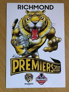 RICHMOND-TIGERS-AFL-PREMIERS-2017-MARK-KNIGHT-STICKER-PREMIERSHIP-FOOTBALL-HOBBY