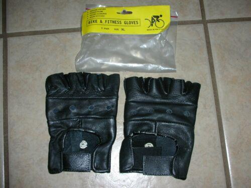 Bike & Fitness Gloves - Genuine Leather - Size XL - Padded Palms NEW!!!! (E 3)