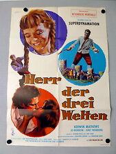 HERR DER 3 WELTEN * RAY HARRYHAUSEN -A1-Filmposter - German 1-Sheet 1960 FANTASY
