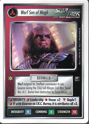 STAR TREK CCG Blaze of Glory  WORF SON OF MOGH