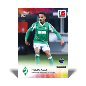 FELIX AGU - SV WERDER BREMEN 2020 2021 card #89 Topps Now Bundesliga