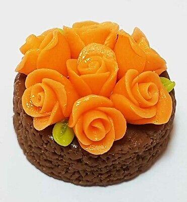 Dollhouse Miniature Chocolate Cake Doll Mini Tiny Food Tart Pie Dessert