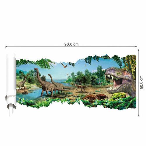Dinosaure Forêt Autocollant Mural Salon Home Decor Art Autocollant Vinyle UK Vendeur