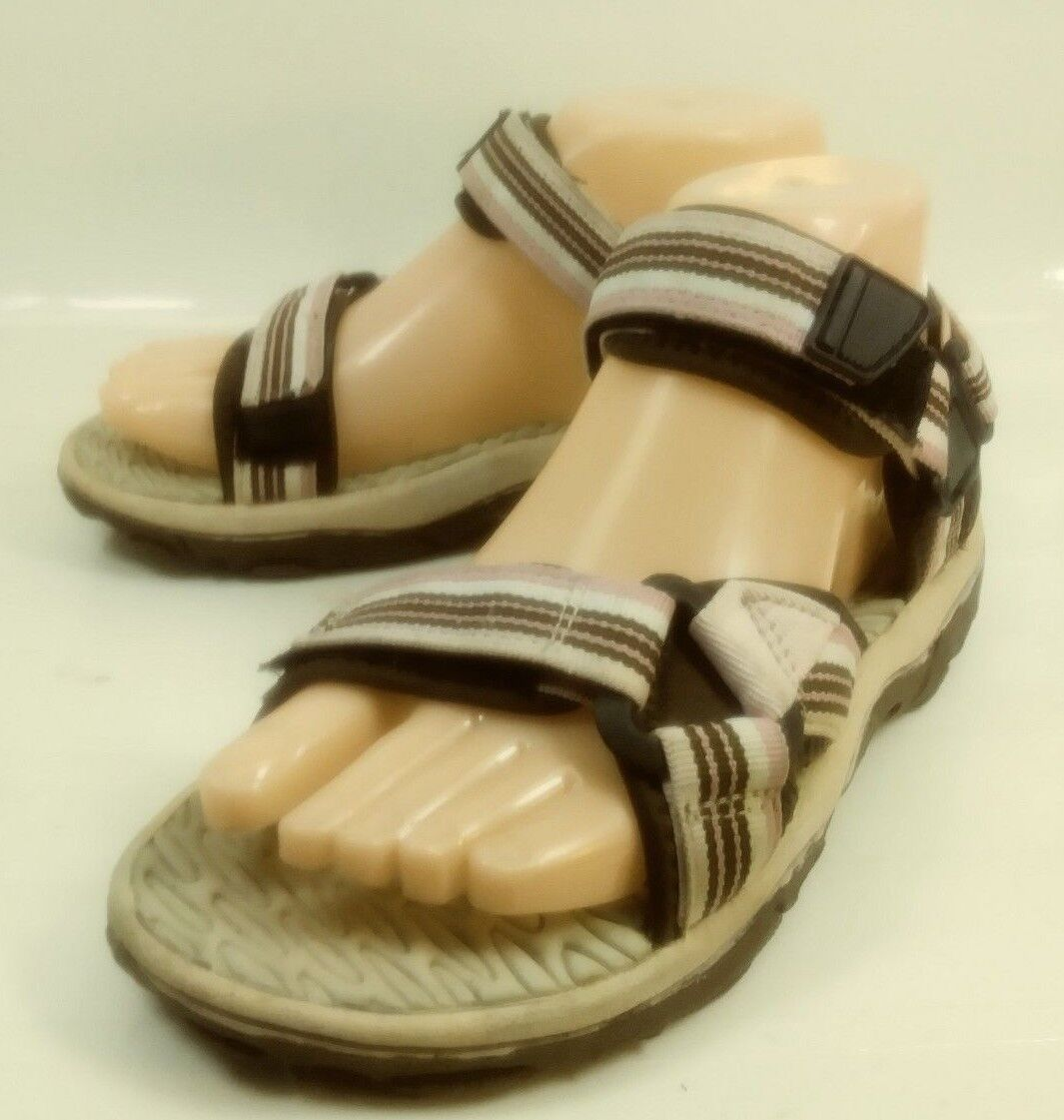 Cabela's Wos Sandals Shoes US 6M Brown Walking Pink Textile Hook Loop Walking Brown Hiking 276 faa00a