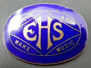 Image Is Loading EHS Labour And Make Music Vintage Enamel Pin